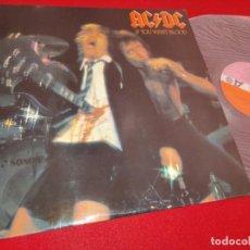 Discos de vinilo: AC/DC ACDC IF YOU WANT BLOOD LP 1979 ATLANTIC ESPAÑA SPAIN EXCELENTE ESTADO. Lote 244833570