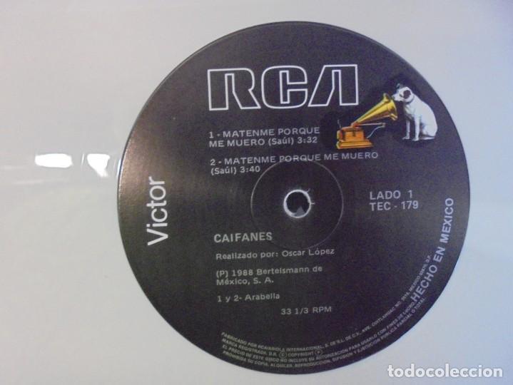 Discos de vinilo: CAIFANES. SINGLE VINILO. RCA VICTOR. 1988. EDICION LIMITADA. BERTELSMANN DE MEXICO. - Foto 4 - 244844390