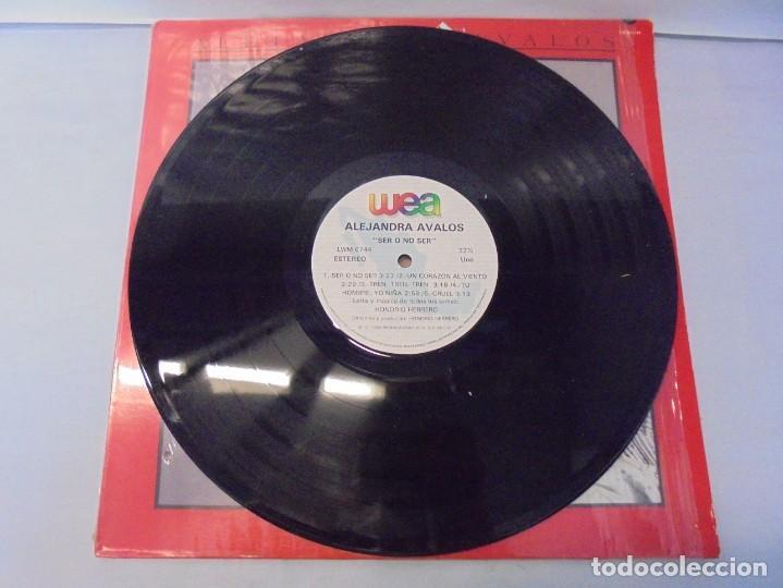 Discos de vinilo: ALEJANDRA AVALOS. SER O NO SER. LP VINILO. PRODUCCIONES WEA 1988. - Foto 2 - 244844795