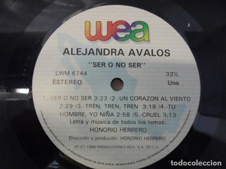 Discos de vinilo: ALEJANDRA AVALOS. SER O NO SER. LP VINILO. PRODUCCIONES WEA 1988. - Foto 3 - 244844795
