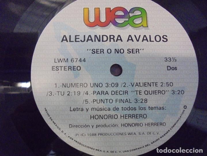 Discos de vinilo: ALEJANDRA AVALOS. SER O NO SER. LP VINILO. PRODUCCIONES WEA 1988. - Foto 5 - 244844795
