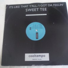 Discos de vinilo: SWEET TEE. IT'S LIKE THAT Y'ALL / I GOT DA FEELIN'. COOLTEMPO. COOLX 160. 1987. Lote 244846450