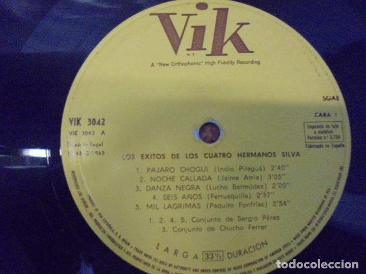 Discos de vinilo: LOS 4 HNOS. SILVA. LP VINILO. DISCOGRAFICA RCA ESPAÑOLA. 1968 - Foto 4 - 244846795
