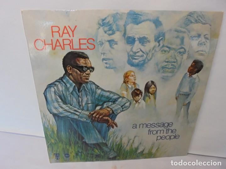 RAY CHARLES. A MESSAGE FROM THE PEOPLE. LP VINILO. HISPAVOX 1972. (Música - Discos - LP Vinilo - Jazz, Jazz-Rock, Blues y R&B)