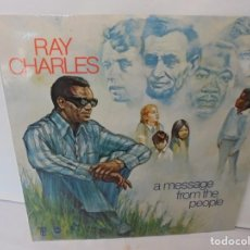 Discos de vinilo: RAY CHARLES. A MESSAGE FROM THE PEOPLE. LP VINILO. HISPAVOX 1972.. Lote 244847235
