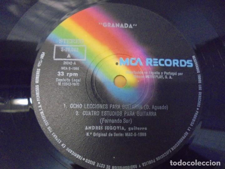 Discos de vinilo: SEGOVIA GRANADA. LECCIONES PARA GUITARRA. AGUADO.SOR.PONCE.. LP VINILO. MCA RECORDS 1970 - Foto 4 - 244847580