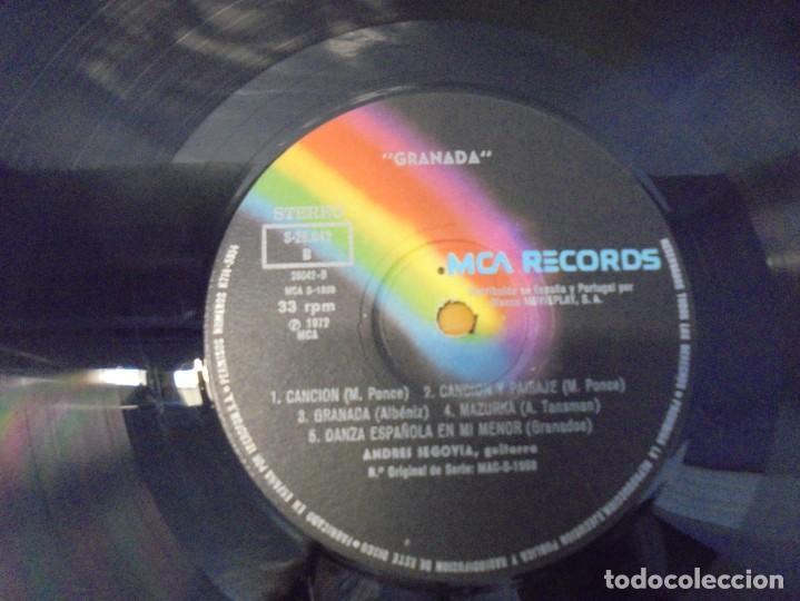 Discos de vinilo: SEGOVIA GRANADA. LECCIONES PARA GUITARRA. AGUADO.SOR.PONCE.. LP VINILO. MCA RECORDS 1970 - Foto 6 - 244847580