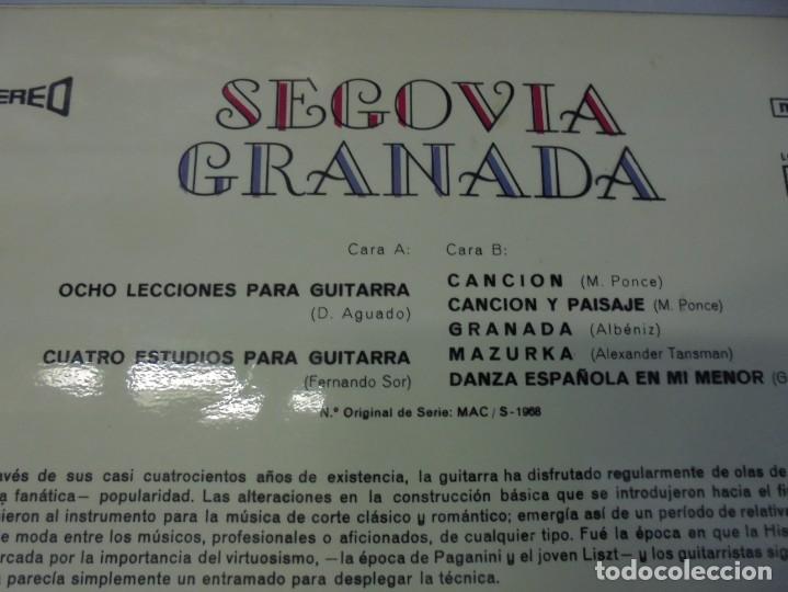 Discos de vinilo: SEGOVIA GRANADA. LECCIONES PARA GUITARRA. AGUADO.SOR.PONCE.. LP VINILO. MCA RECORDS 1970 - Foto 7 - 244847580