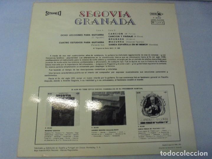 Discos de vinilo: SEGOVIA GRANADA. LECCIONES PARA GUITARRA. AGUADO.SOR.PONCE.. LP VINILO. MCA RECORDS 1970 - Foto 8 - 244847580
