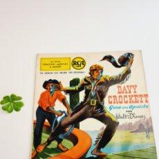 Discos de vinilo: DISCO DAVY CROCKETT GANA UNA APUESTA POR WALT DISNEY AÑOS 50 RCA ESPAÑOLA. Lote 244850175