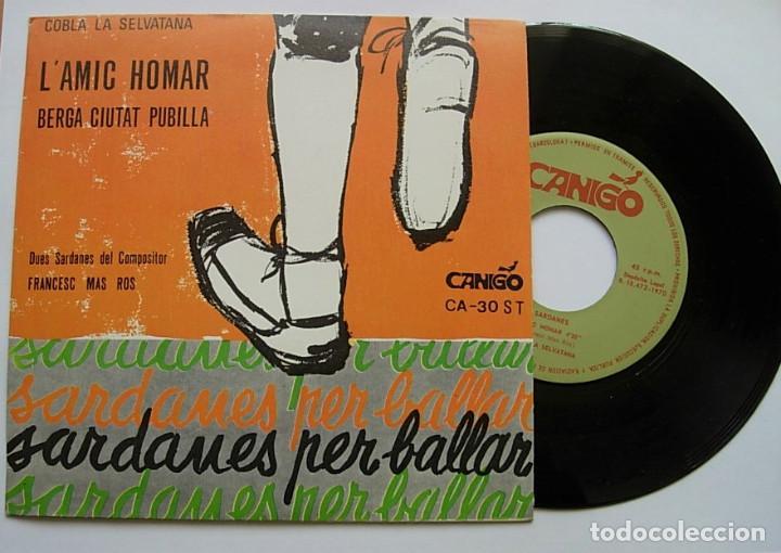 """COBLA LA SELVATANA 7"""" SINGLE 45RPM SARDANES PER BALLAR 1970 RARO IMPECABLE !! (Música - Discos - Singles Vinilo - Étnicas y Músicas del Mundo)"""