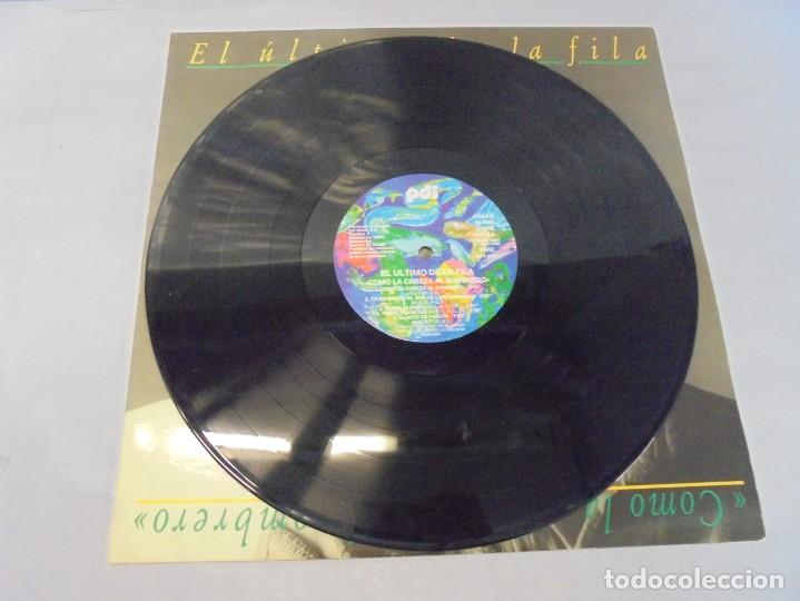 Discos de vinilo: EL ULTIMO DE LA FILA. COMO LA CABEZA AL SOMBRERO. LP VINILO. PDI 1988. - Foto 3 - 244865275