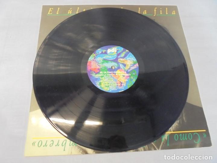 Discos de vinilo: EL ULTIMO DE LA FILA. COMO LA CABEZA AL SOMBRERO. LP VINILO. PDI 1988. - Foto 5 - 244865275
