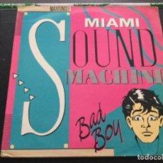 Discos de vinilo: MIAMI SOUND MACHINE - BAD BOY. Lote 244865480