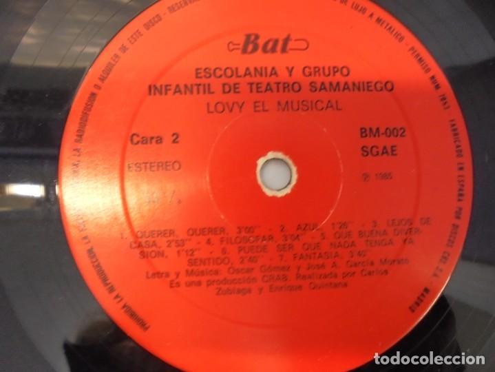 Discos de vinilo: A VECES SIENTO UN ALGO MAGICO... LOVY EL MUSICAL COMEDIA ROCK INFANTIL. BAT DISCOS 1985 - Foto 4 - 244865965