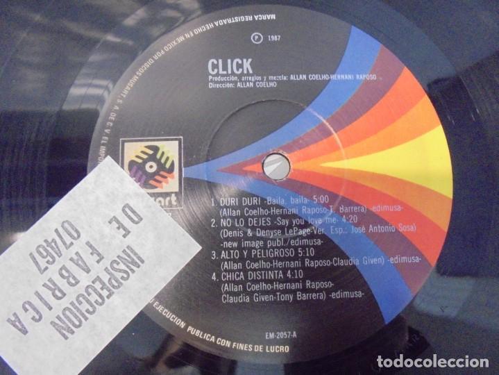 Discos de vinilo: CLICK. LP VINILO. DISCOGRAFICA DISCOS MUSART 1987. - Foto 7 - 244868910