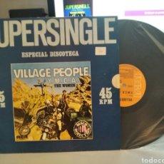 Discos de vinilo: VILLAGE PEOPLE. PROMO MAXI 12 X 45 RPM. Y.M.C.A. + THE WOMEN. SUPERSINGLE. RCA 1978- UNICO TC. Lote 244873300