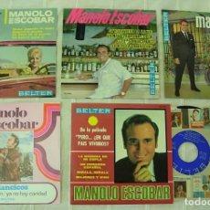 Discos de vinilo: LOTE DE 5 EPS Y SINGLES MANOLO ESCOBAR 1964-1972 EXCELENTE ESTADO. Lote 244873735