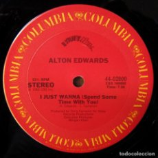 Discos de vinilo: ALTON EDWARDS - I JUST WANNA (SPEND SOME TIME WITH YOU) / INSTRUMENTAL - 1982 - EDICIÓN AMERICANA. Lote 244877960