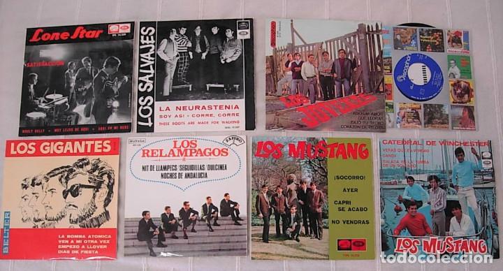 LOTE DE 7 EPS LOS SALVAJES LOS GIGANTES LOS JOVENES LOS MUSTANG LONE STAR MUY BUEN ESTADO !! (Música - Discos de Vinilo - EPs - Grupos Españoles 50 y 60)