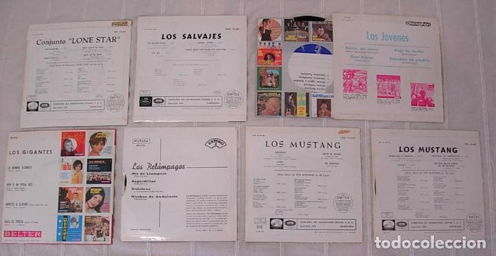Discos de vinilo: LOTE de 7 EPs LOS SALVAJES LOS GIGANTES LOS JOVENES LOS MUSTANG LONE STAR Muy buen estado !! - Foto 2 - 244878625