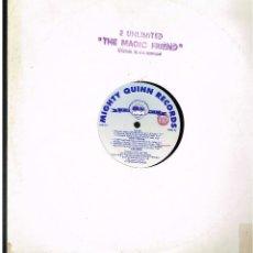 Discos de vinilo: 2 UNLIMITED - THE MAGIC FRIEND - MAXI SINGLE 1992 - ED. ITALIA. Lote 288528568