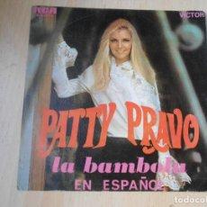 Disques de vinyle: PATTY PRAVO EN ESPAÑOL, SG, LA BAMBOLA + 1 , AÑO 1968. Lote 244885855