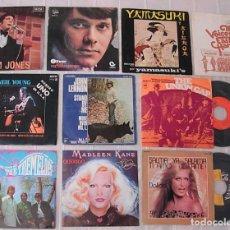Discos de vinilo: LOTE DE 10 SINGLES 45RPM JOHN LENNON NEIL YOUNG TOM JONES TREMELOES THE UNION GAP DALIDA. Lote 244891700