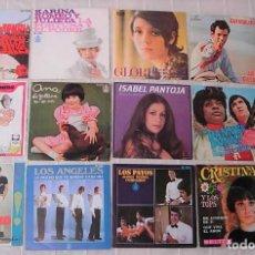 Discos de vinilo: LOTE DE 13 SINGLES 45RPM KARINA GLORIA ISABEL PANTOJA LOS ANGELES BRINCOS PAYOS CRISTINA Y LOS TOPS. Lote 244894825