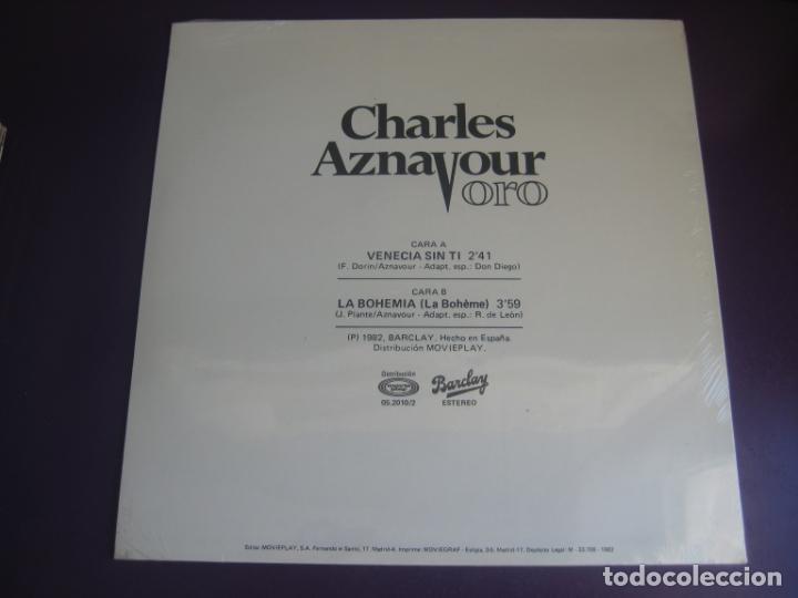 Discos de vinilo: Charles Aznavour – Venecia Sin Ti / La Bohemia - MAXI SINGLE MOVIEPLAY 1982 - CHANSON FRANCIA - Foto 3 - 244896130