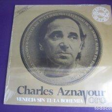 Discos de vinilo: CHARLES AZNAVOUR – VENECIA SIN TI / LA BOHEMIA - MAXI SINGLE MOVIEPLAY 1982 - CHANSON FRANCIA. Lote 244896130