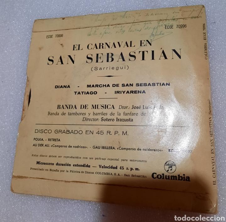 Discos de vinilo: El carnaval de San Sebastián. Banda de tambores y barriles de la fanfare gaztelubide - Foto 2 - 244906210