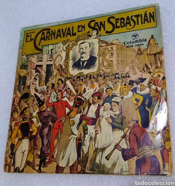 EL CARNAVAL DE SAN SEBASTIÁN. BANDA DE TAMBORES Y BARRILES DE LA FANFARE GAZTELUBIDE (Música - Discos de Vinilo - EPs - Country y Folk)