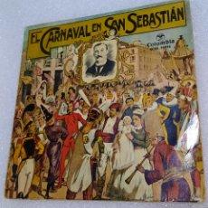 Discos de vinilo: EL CARNAVAL DE SAN SEBASTIÁN. BANDA DE TAMBORES Y BARRILES DE LA FANFARE GAZTELUBIDE. Lote 244906210