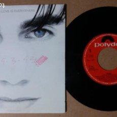 Discos de vinilo: CICERO / LOVE IS EVERYWHERE / SINGLE 7 PULGADAS. Lote 244918865