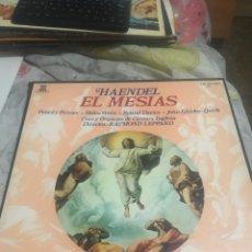 Discos de vinilo: HAENDEL . EL MESIAS 3 LPS + LEAN DESCRIPCION .. Lote 244922895