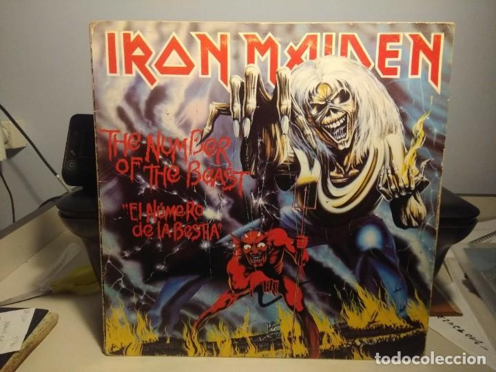 LP IRON MAIDEN : THE NUMBER OF THE BEAST ( EL NUMERO DE LA BESTIA ) (Música - Discos - LP Vinilo - Heavy - Metal)