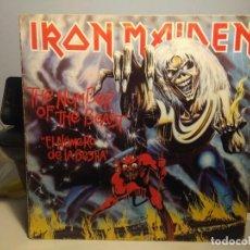 Discos de vinilo: LP IRON MAIDEN : THE NUMBER OF THE BEAST ( EL NUMERO DE LA BESTIA ). Lote 244924735