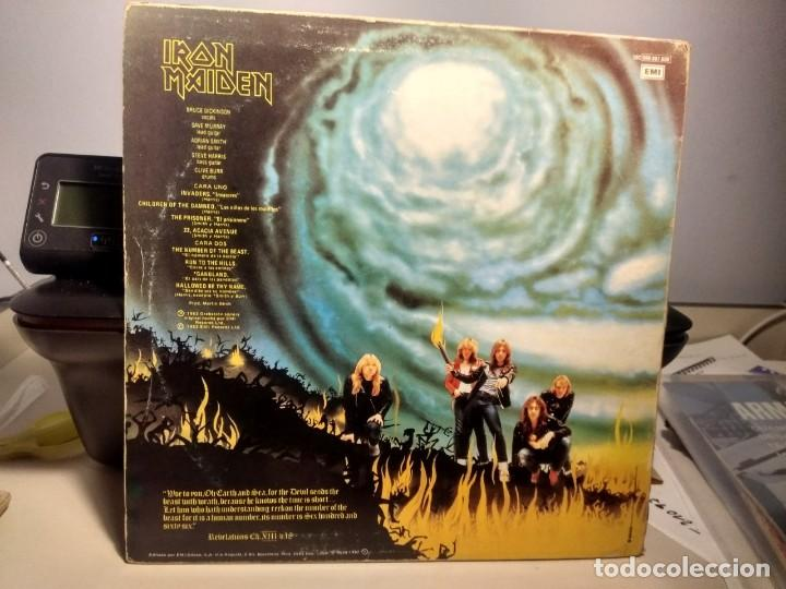 Discos de vinilo: LP IRON MAIDEN : THE NUMBER OF THE BEAST ( EL NUMERO DE LA BESTIA ) - Foto 2 - 244924735