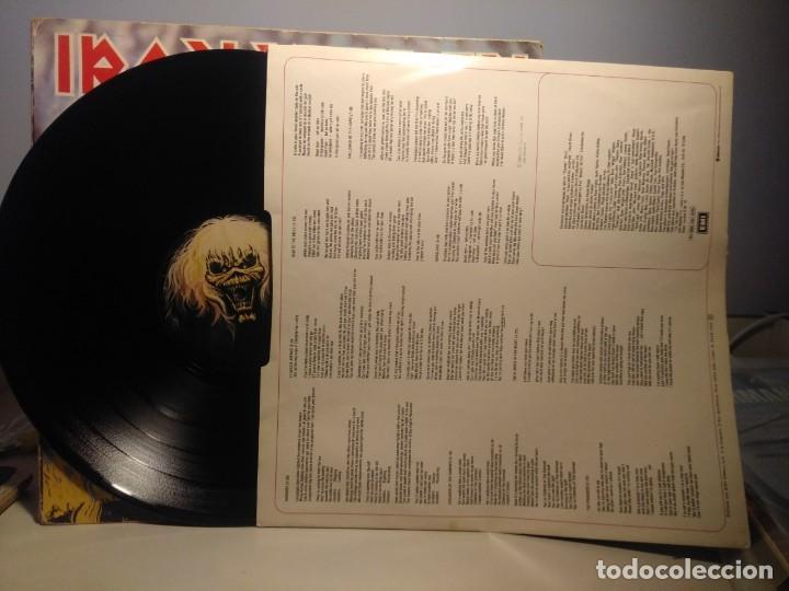 Discos de vinilo: LP IRON MAIDEN : THE NUMBER OF THE BEAST ( EL NUMERO DE LA BESTIA ) - Foto 3 - 244924735