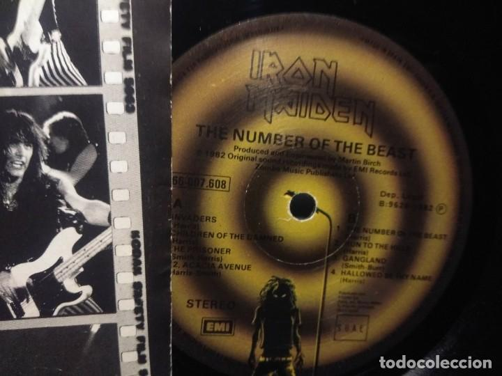 Discos de vinilo: LP IRON MAIDEN : THE NUMBER OF THE BEAST ( EL NUMERO DE LA BESTIA ) - Foto 5 - 244924735