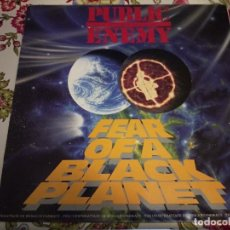 Discos de vinilo: PUBLIC ENEMY - FEAR OF A BLACK PLANET (LP, ALBUM) SELLO:CBS CAT. Nº: 466281 1.MUY BUEN ESTADO.NM/VG+. Lote 244935400