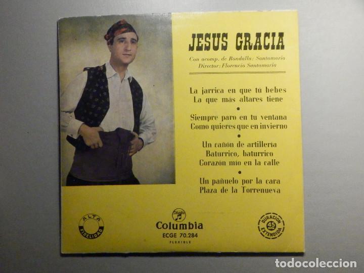JESUS GRACIA - ACOMP. RONDALLA SANTAMARÍA - LA JARRICA EN QUE TU BEBES + 8 - COLUMBIA (Música - Discos de Vinilo - EPs - Country y Folk)