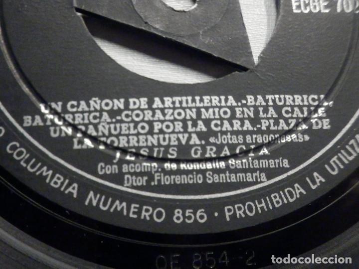 Discos de vinilo: Jesus Gracia - Acomp. Rondalla Santamaría - La Jarrica en que tu bebes + 8 - Columbia - Foto 3 - 244952975