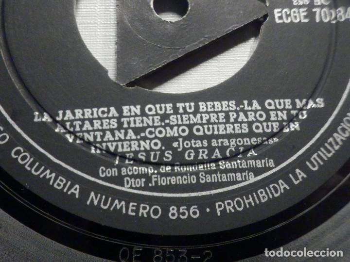 Discos de vinilo: Jesus Gracia - Acomp. Rondalla Santamaría - La Jarrica en que tu bebes + 8 - Columbia - Foto 4 - 244952975