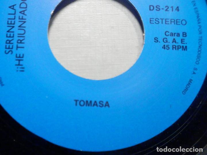 Discos de vinilo: Serenella - He triunfado - Una Casita en Canada, Chi, Chu, Ciao Bambina, Arrivederci Roma, Tomasa - Foto 3 - 244953210