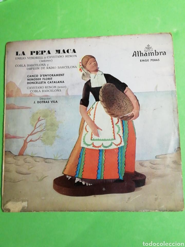 LA PEPA MACA. DISCO MICROSURCO DURACIÓN EXTENDIDA. . VELOCIDAD 45 R. P. M (Música - Discos de Vinilo - Maxi Singles - Solistas Españoles de los 50 y 60)