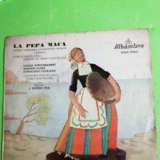 Discos de vinilo: LA PEPA MACA. DISCO MICROSURCO DURACIÓN EXTENDIDA. . VELOCIDAD 45 R. P. M. Lote 244955515