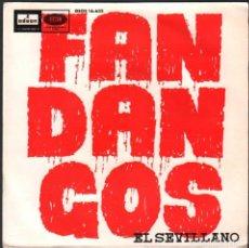 Discos de vinilo: EL SEVILLANO - FANDANGOS / EP ODEON DE 1964 / BUEN ESTADO RF-4856. Lote 244967030