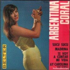 Discos de vinilo: ARGENTINA CORAL - SUCI SUCU, MADRINA, AY CAROLINA.../ EP BELTER 1963 / BUEN ESTADO RF-4861. Lote 244967545
